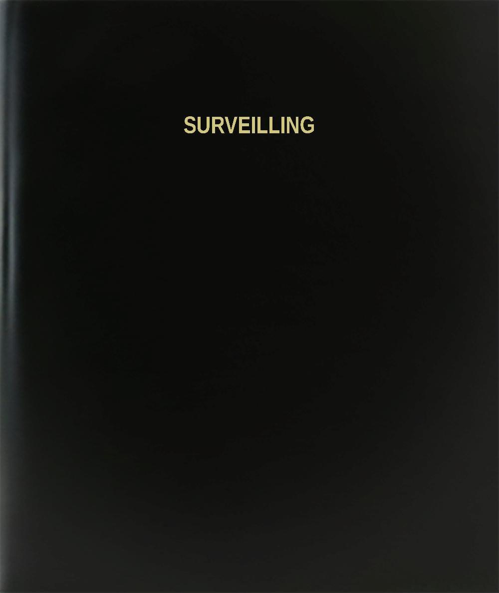 BookFactory Surveilling Log Book / Journal / Logbook - 120 Page, 8.5''x11'', Black Hardbound (XLog-120-7CS-A-L-Black(Surveilling Log Book)) by BookFactory