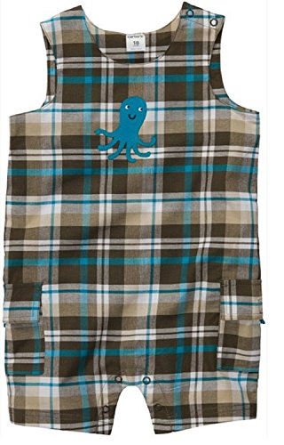 Sunsuit Woven - Carter's Baby Boys' Infant Woven Sunsuit (3 Months, Brown/Turquoise)