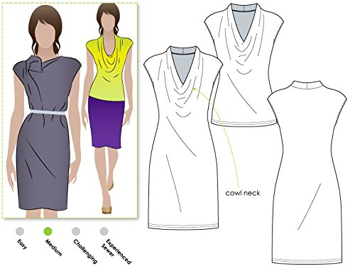 Dress Pattern Neck - Style Arc Sewing Pattern - Franki Dress or Top (Sizes 18-30) - Click for Other Sizes Available
