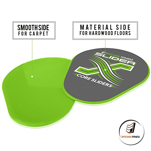 Slider X Gliding Discs Core Sliders Set For Core Workouts And Sliders Exercise (Exercise Sliders Perfectly Shaped For Hands & Feet)