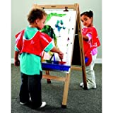 Childcraft 074493 Double-Sided Easel with Dry Erase Panels, Maple, 44-1/2'' x 24'' x 26-5/8'', Natural Wood Tone