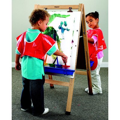 - Childcraft 074493 Double-Sided Easel with Dry Erase Panels, Maple, 44-1/2