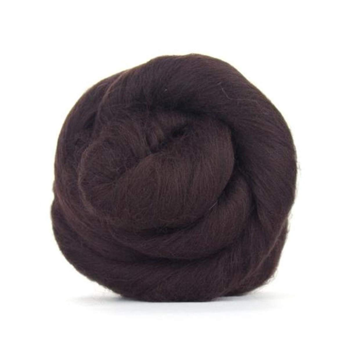 Dark Brown Merino Wool roving/Tops - 50gm. Great for Wet Felting/Needle Felting, and Hand Spinning Projects.