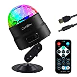 Disco Ball Light - Sound Activated Party Lights with USB Plug, Remote Control DJ Lighting, RGB Disco Ball, Strobe Lamp, 7 Modes Stage Light for Home Dance Party Birthday DJ Bar Club Pub