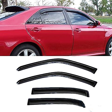 Audrfi 4pcs Window Visors for 06-13 Impala Smoke Sun/Rain Guard Wind Deflector Vent Shade - Impala Vent