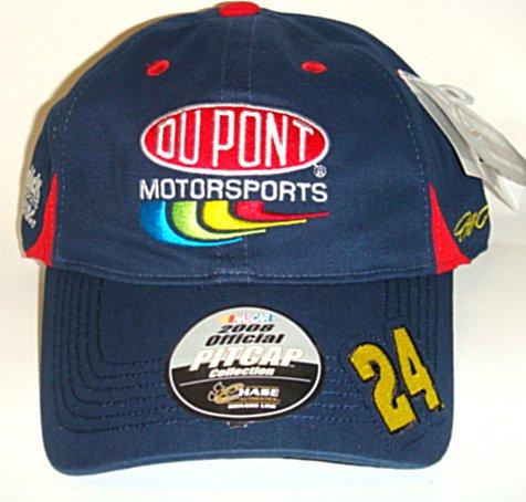 NASCAR-Throwback-24-Jeff-Gordon-Navy-Bl-Velcro-Pit-Cap