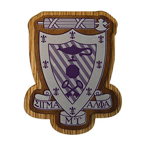 Sigma Alpha Mu Wood Crest Made of Wood for Paddle Mascot Board Sammy (3.5