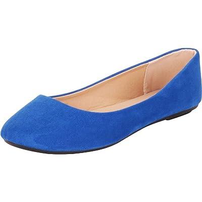 Cambridge Select Women's Classic Slip-On Round Toe Ballet Flat   Flats