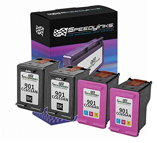 Speedy Inks Remanufactured Ink Cartridge Replacement for HP 901 (2 Black and 2 Color, 4-Pack)