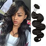 MDL Hair Brazilian Remy Human Hair Weave 24inch Natural Black Color Body Wave 1 Bundle 100g 8A Unprocessed Virgin Brazilian Hair Weft Extensions for American Women Party