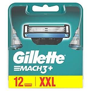 Gillette Mach3 Lames de Rasoir Homme, Pack de 12 Lames de Recharges