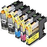 5 Pack Compatible Brother LC101 , LC103 2 Black, 1 Cyan, 1 Magenta, 1 Yellow for use with Brother DCP-J152W, MFC-J245, MFC-J285DW, MFC-J4310DW, MFC-J4410DW, MFC-J450DW, MFC-J4510DW, MFC-J4610DW, MFC-J470DW, MFC-J4710DW, MFC-J475DW, MFC-J650DW, MFC-J6520DW, MFC-J6720DW, MFC-J6920DW, MFC-J870DW, MFC-J875DW. Ink Cartridges for inkjet printers. LC101BK , LC101C , LC101M , LC101Y , LC103BK , LC103C , LC103M , LC103Y © Zulu Inks