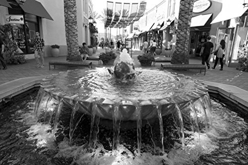 18 x 24 B&W Photo of Fountain at Irvine Spectrum Center, a shopping center located in Orange County, California 2012 Highsmith - Spectrum Irvine Center