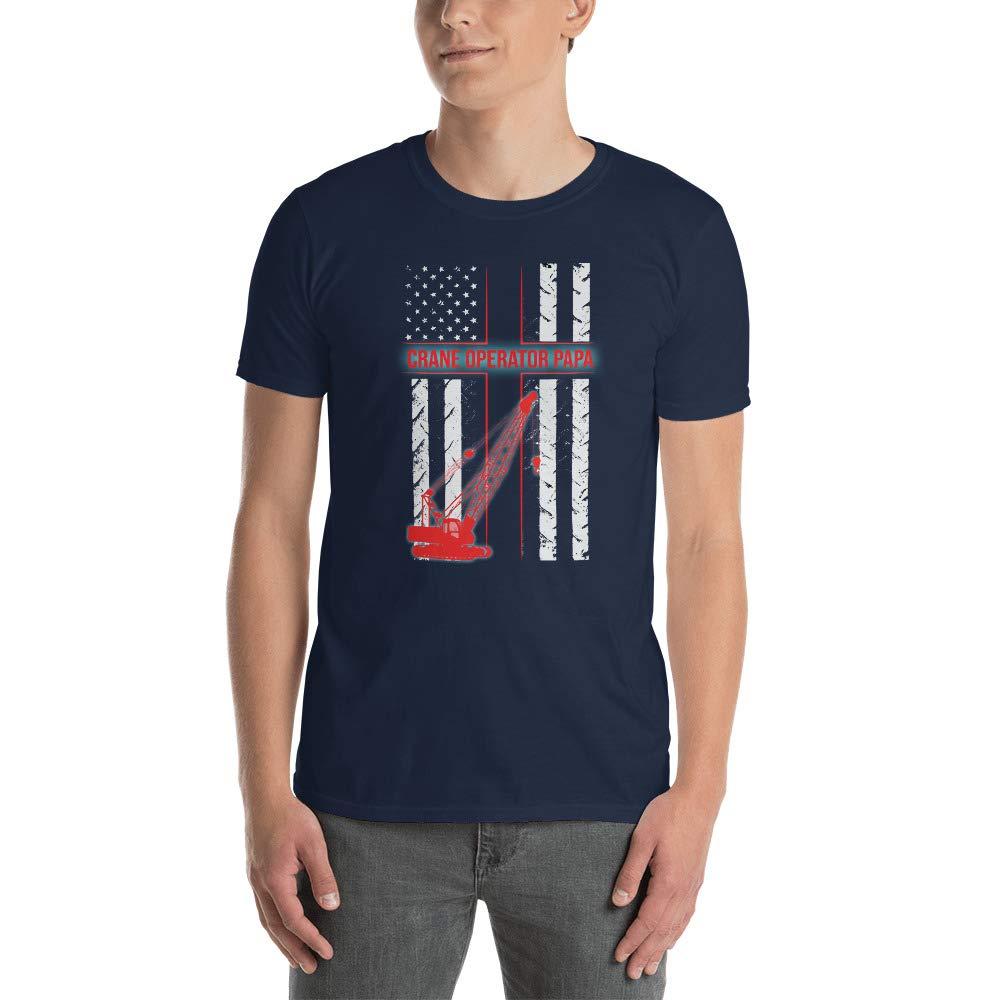 Crane Operator Papa T Shirt Gift USA Flag Crane Operator Tee Gift