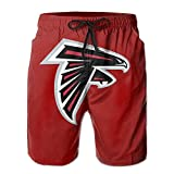 Atlanta_Falcons_Classic_Team_Logo_Man's_Swim_Trunks_Quick_Dry_Water_Beach_Cargo_Water_Shorts_with_Mesh_Lining