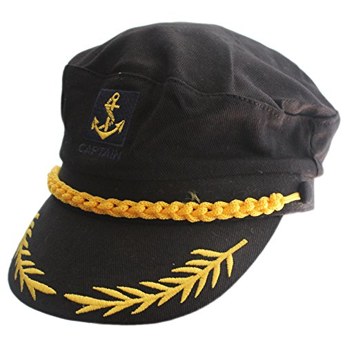 Adult Yacht Boat Ship Sailor Captain Costume Hat Cap Visor Navy Marine (Admiral Adult Costumes)
