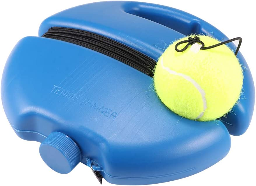 Heavy Duty Fitness Tennis Ball Sport Self-Study Rebound Ball with Tennis Trainer Baseboard Sparring Device SOOTOP Portable Tennis Training Exerciser Rebound Tool