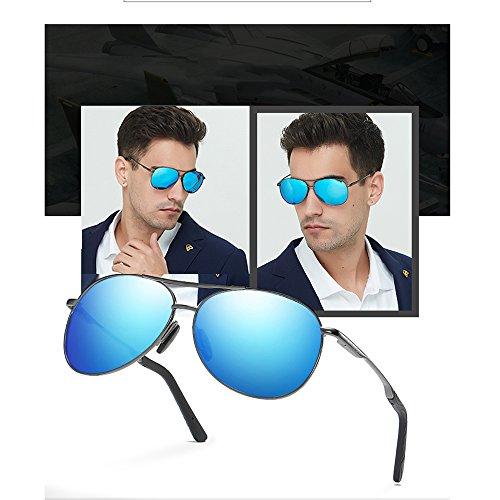 Los Espejo Hombres Blue ConduccióN Gafas De UV Polarizadas De TESITE De Libre Sol 100 De Aire De ProteccióN Al Gafas Las 6RqtxFnIC