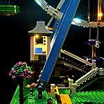 WDLY-Kit-LED-Lighting-per-Lego-Ferris-in-Relazione-alle-Ruote-Compatibile-con-Lego10247-Building-Blocks-Modello-Non-Includere-Il-Lego-Set