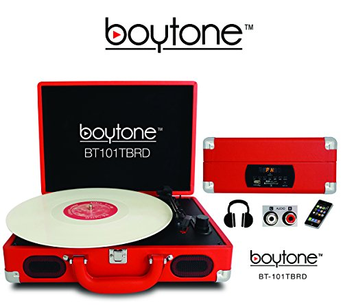 Boytone BT-101TBRD 5 in 1 Briefcase Record Player AC-DC Buil