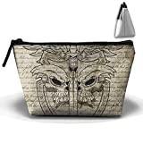 The Skeleton Sword Portable Make-up Receive Bag Storage Capacity Bags For Travel With Hanging Zipper