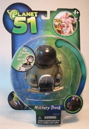 """41114 PLANET 51 5/"""" VEICHLES MILITARY TRUCK"""