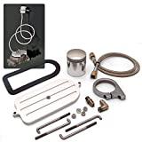 Helix 14680 Billet Remote Brake Reservoir Kit with Large Tank for Big Ford Master Cylinder