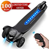 TOMOLOO Electric Skateboard with Remote Controller, 3-Wheel All Terrain Longboard 15.5 MPH Top Speed, 265 lbs Max Load with LED Night Lights
