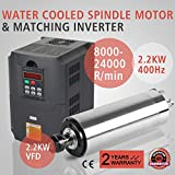 XeeStore 2.2KW Water Cooled Spindle Motor + 2.2KW VFD Variable Frequency Drive Inverter Engraving Milling (2.2KW VFD + 2.2KW Water Cooled Spindle Motor)