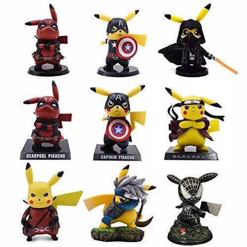 Amazon.com: VIETFR Style Pikachu Naruto Deadpool Spiderman ...