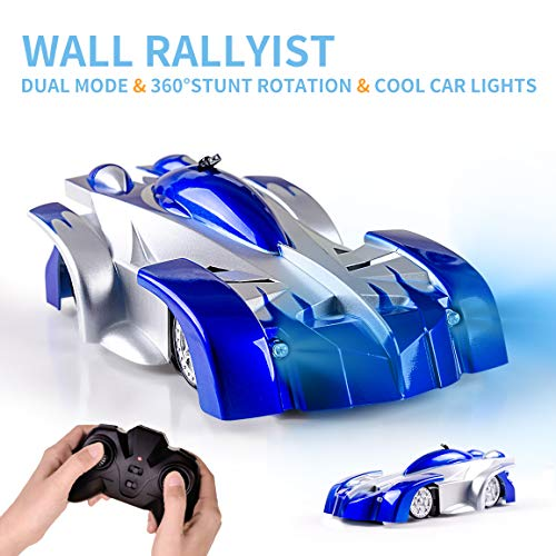 Refasy RC Racing Cars for Kids Adults, Children's Day Gift Ideas for 6 7 8 9 10 Year Old Girls Boys Remote Control Car Toy Birthday Gifts Age 12-15 Adult Daughter Son Wall Climbing Car Dual Mode Blue
