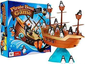 Habilidad buques juego con los pingüinos: Amazon.es: Juguetes y juegos