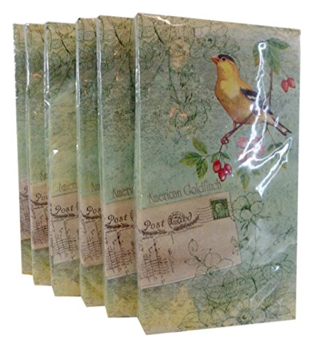 Bulk Buy: American Gold Finch Bird Paper Guest Towels/Dinner Napkins. Pack of (6)