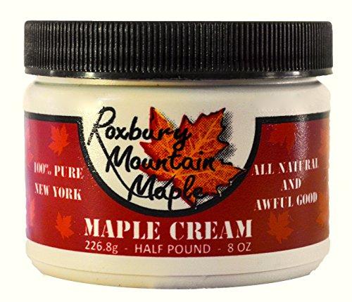 Organic Golden Maple Cream, Roxbury Mountain Maple, 8 Ounces -