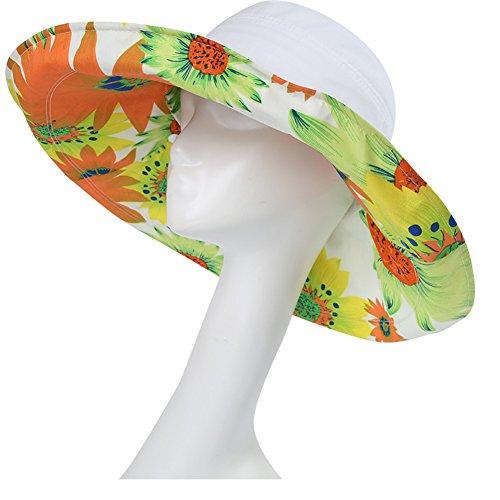 Opcionales Blanco Sol Libre Impresión 8 Sombreros Ju Verano Diseño Al Verano De Caqui Colores color Ajuste Fu Sombrero Playa Aire Ancho Plegable qwwX1ZFU
