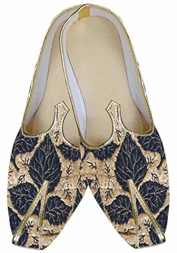 INMONARCH Hombres Novio Negro Zapatos exclusivos de Boda MJ0058
