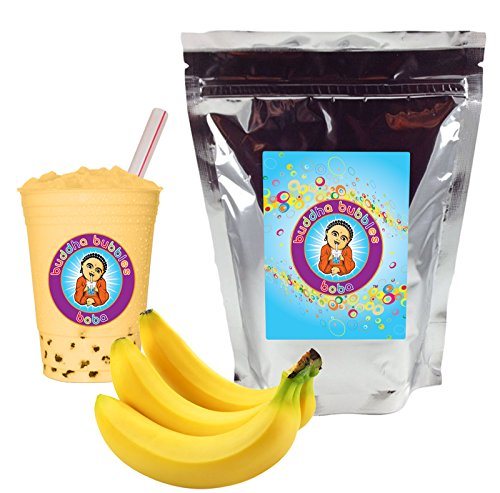 Banana Cream Boba Tea Drink Mix Powder By Buddha Bubbles Boba 1 Kilo (2.2 Pounds) | (1000 Grams) ()