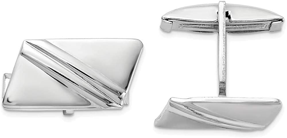 925 Sterling Silver Stripe Design Cuff Links Mens Cufflinks Link Fine Jewelry For Dad Mens Gifts For Him