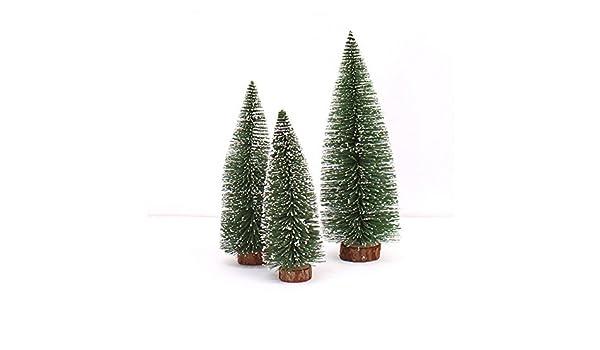 JiaMeng Decoración del hogar, Mini Christmas Tree Stick White Cedar Desktop Pequeño árbol de Navidad: Amazon.es: Hogar