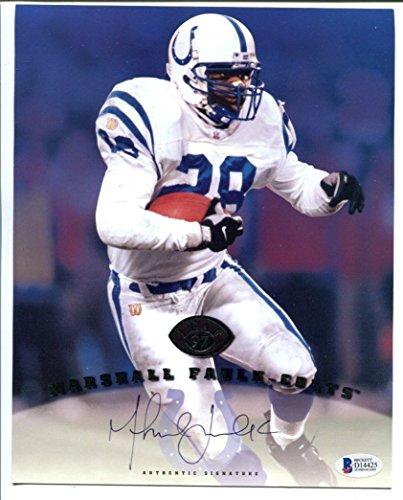 Marshall Faulk Signed 1997 Leaf Photo 8x10 Autographed Colts BAS D14425