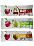 That's It Natural Fruit Bars Variety Bundle, 4 Each Apple+Pear, Apple+Cherry & Apple+Apricot, 12 Total Bars