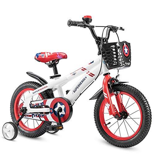 14in Minmin-chezi Kinder Fahrrad Fahrrad männer und Frauen Kinder spaziergänger Mountainbike 3 5 7 Jahre alt Fahrrad Balance Auto rutsche Auto Spielzeug Amerikanischen kapitän weiß (größe   14in)