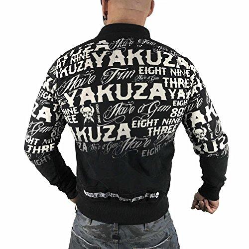 Allover Nero Giacche Uomo Giacca Mezza Label Yakuza Stagione nvx8wXT6