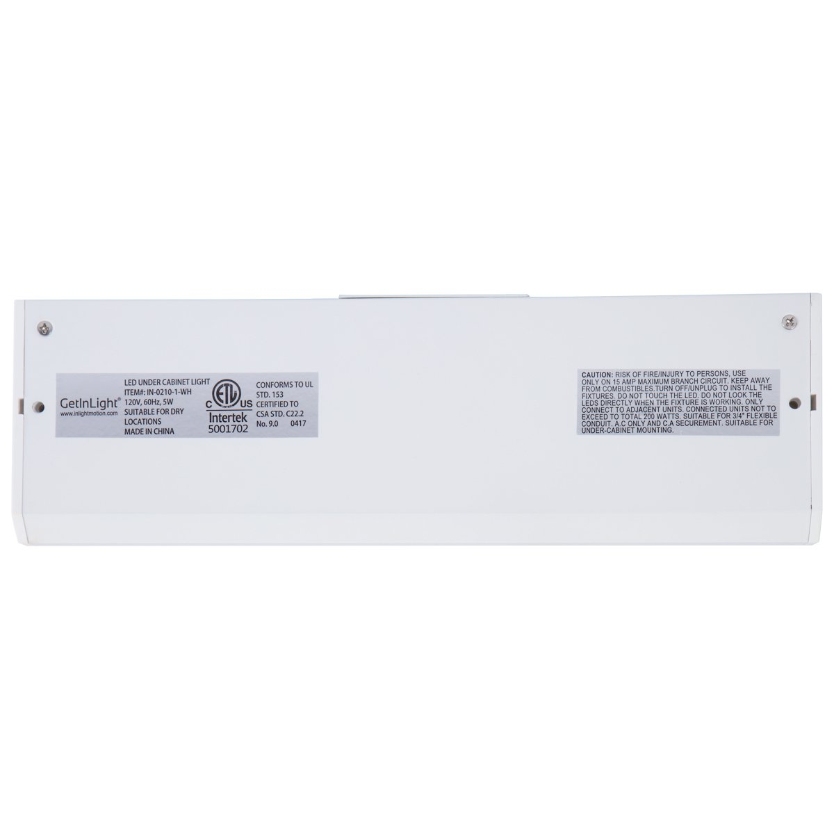 Getinlight 3 Color Levels Dimmable Led Under Cabinet Lighting With The Flex Conduit Mounts Underneath Main Panel Each Line Connects Etl Listed Warm White 2700k Soft 3000k Bright 4000k Finished