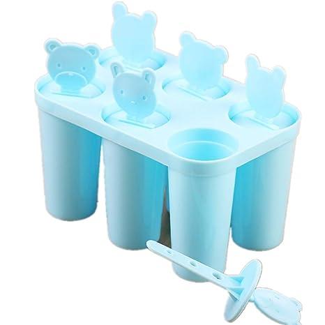 Wagyunfei Molde para paletas Reutilizables Fabricante Popular de moldes para Hielo 6 Piezas