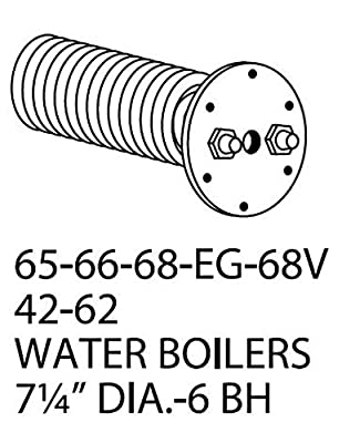 """Weil-mclain 65, 66, 68, Eg, 68v, 42, 62 Water Domestic Tankless Hot Water Coil. 5 Gpm 7-1/4"""" Diameter 6 Bolt Hole."""