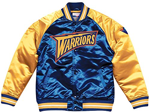 Mitchell & Ness Golden State Warriors NBA HWC Tough Season Satin Jacket Bomber College Jacke