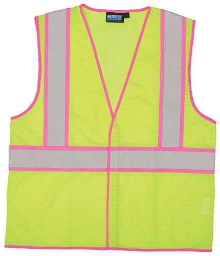 ERB 63322 S730 Class 2 Unisex Safety Vest, Hi-Viz Lime, Medium