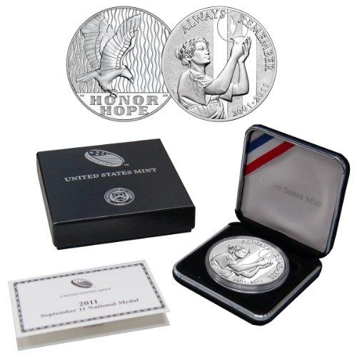 2011 September 11 National Proof Silver Medal - West Point Mint Mark