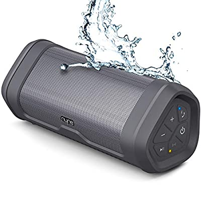 NYNE Boost Portable Bluetooth Speakers with Premium Stereo Sound - IP67 Water & Dust Proof, 20 Hours Play-time, 100 ft Range, Built-in Power Bank and Mic, True Wireless Stereo, Loud Wireless Speaker …